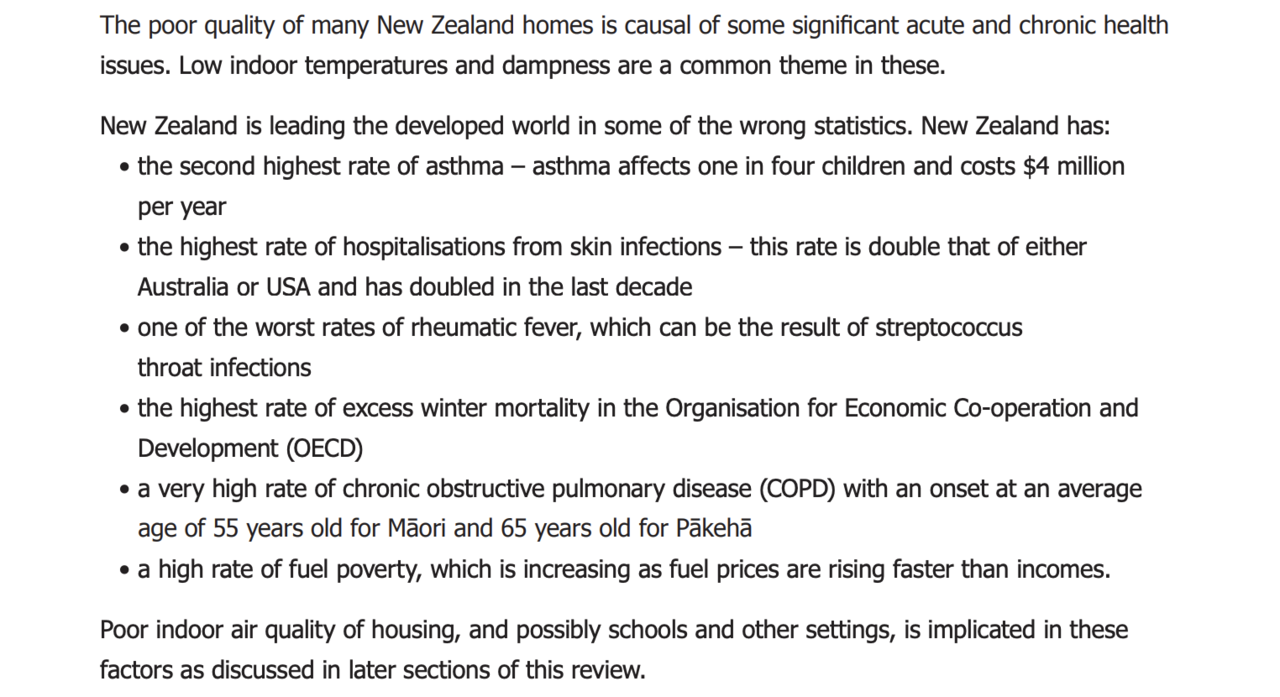 Housing & Health in NZ