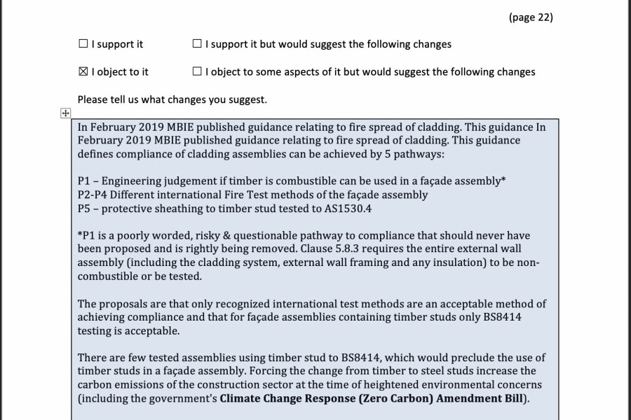Response to MBIE Consultation Document